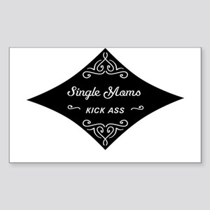 Single Moms Kick Ass Sticker (Rectangle)