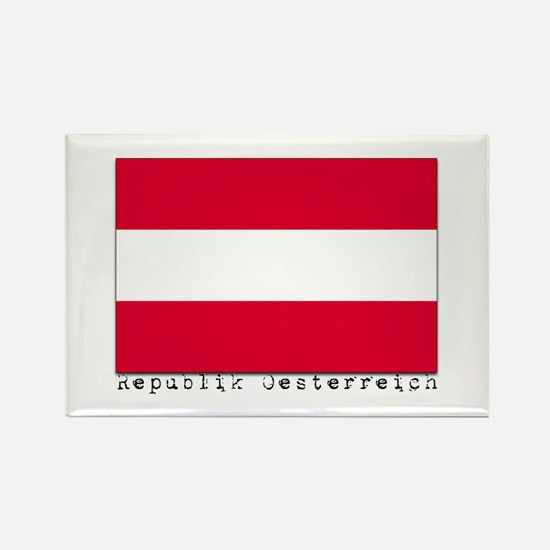 Austria Rectangle Magnet (100 pack)