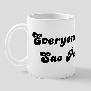 Loves Sao Paulo Girl Mug