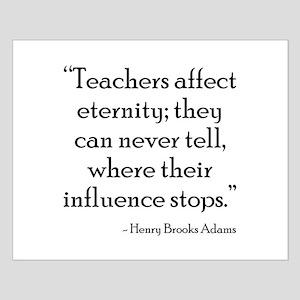 Teacher Eternity Small Poster