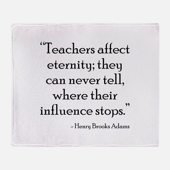Teacher Eternity Throw Blanket