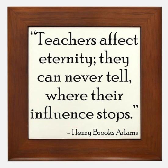 Teacher Eternity Framed Tile