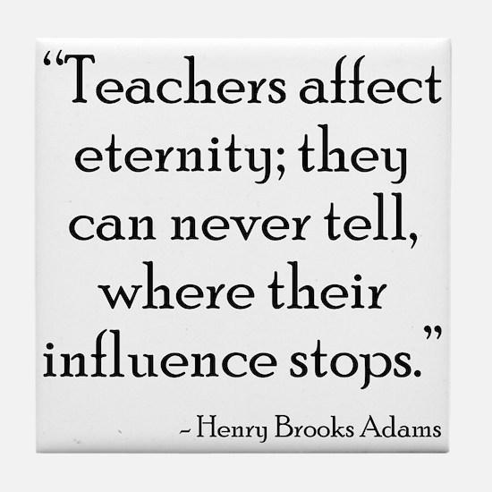 Teacher Eternity Tile Coaster