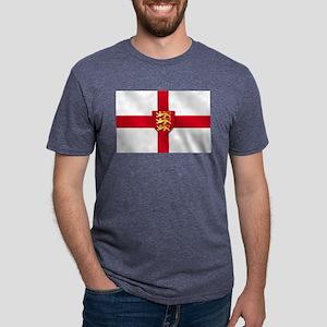 England Three Lions Flag Mens Tri-blend T-Shirt