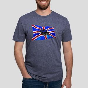Black Cab Union Jack Mens Tri-blend T-Shirt