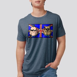 British Bulldogs Mens Tri-blend T-Shirt