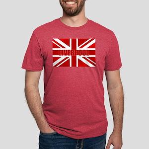 Liverpool England Mens Tri-blend T-Shirt