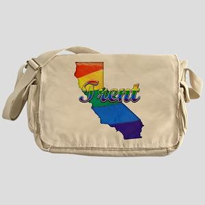 Trent, California. Gay Pride Messenger Bag