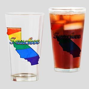 Truckee, California. Gay Pride Drinking Glass