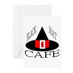 Black Hat Cafe Greeting Cards (Pk of 10)