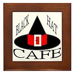 Black Hat Cafe Framed Tile