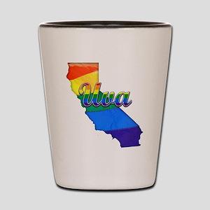 Uva, California. Gay Pride Shot Glass