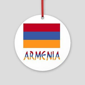 Armenia Flag & Word Ornament (Round)