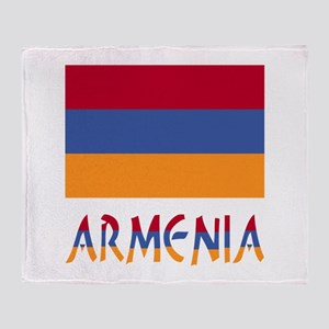 Armenia Flag & Word Throw Blanket