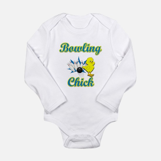 Bowling Chick #2 Long Sleeve Infant Bodysuit