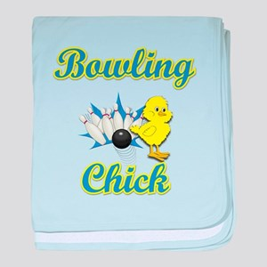 Bowling Chick #2 baby blanket