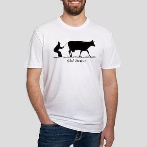 Ski Iowa Fitted T-Shirt