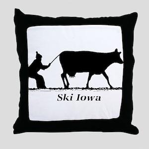 Ski Iowa Throw Pillow
