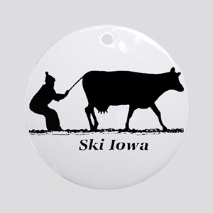 Ski Iowa Ornament (Round)