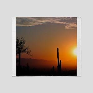 Desert Sunrise Throw Blanket