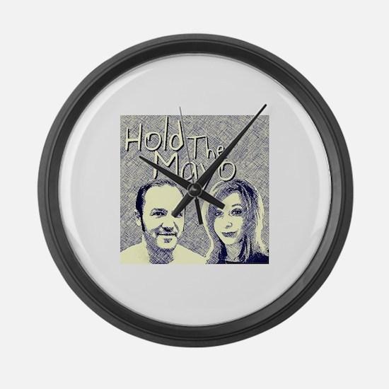Hold The Mayo Podcast logo Large Wall Clock