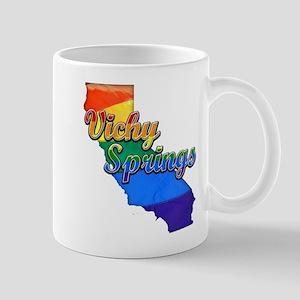 Vichy Springs, California. Gay Pride Mug