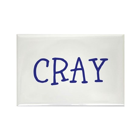 Cray Rectangle Magnet (100 pack)