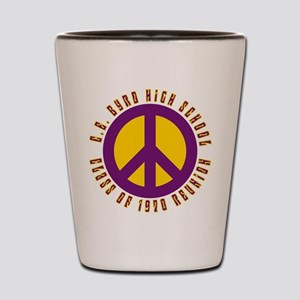 C.E. Byrd Class of 1970 Peace Shot Glass