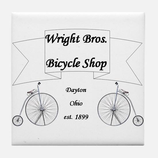 Wright Bros. Cycle Shoppe Tile Coaster