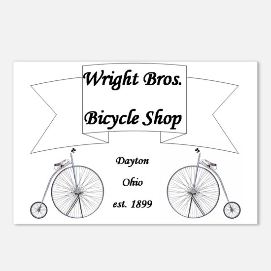 Wright Bros. Cycle Shoppe Postcards (Package of 8)