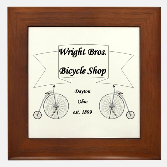 Wright Bros. Cycle Shoppe Framed Tile