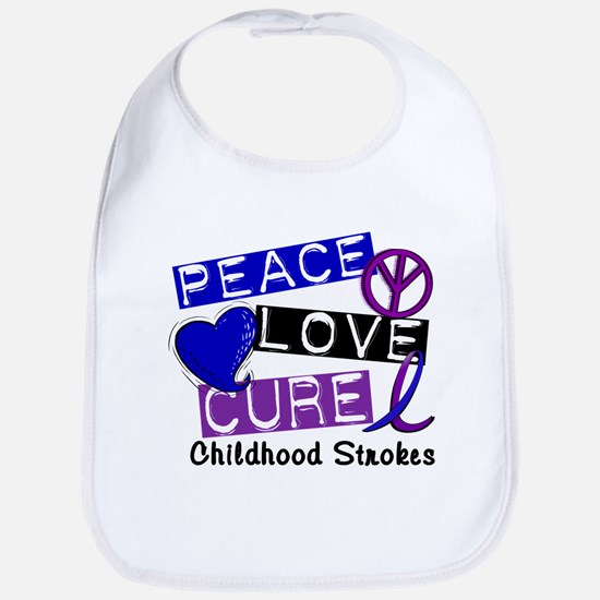 Peace Love Cure Childhood Strokes 1 Bib