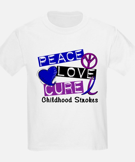 Peace Love Cure Childhood Strokes 1 T-Shirt