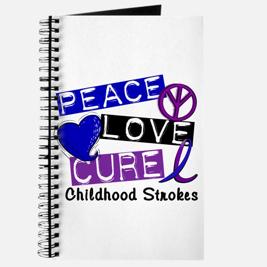 Peace Love Cure Childhood Strokes 1 Journal