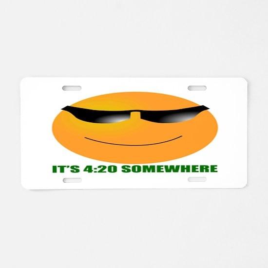 4:20 Aluminum License Plate