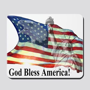 God Bless America! Mousepad