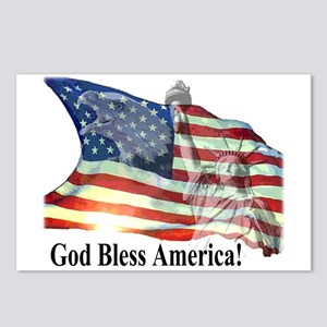 God Bless America! Postcards (Package of 8)