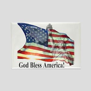 God Bless America! Rectangle Magnet