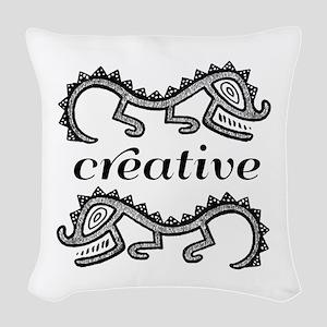 Creative Imaginative Woven Throw Pillow