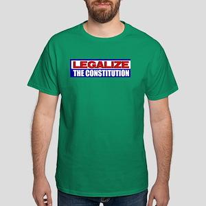 """Legalize The Constitution"" Dark T-Shirt"