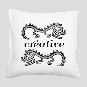 Creative Imaginative Square Canvas Pillow
