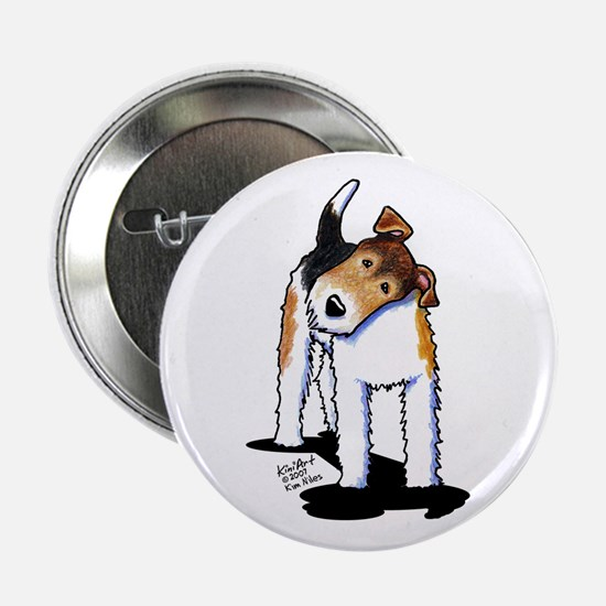 """Wire Fox Terrier 2.25"""" Button"""