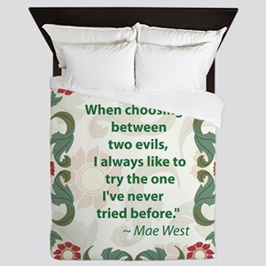 Mae West 2 Evils Queen Duvet