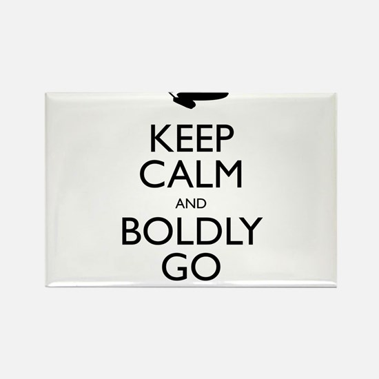 Keep Calm and Boldly Go Rectangle Magnet