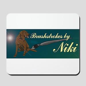 Brushstrokes by Niki Merch Mousepad