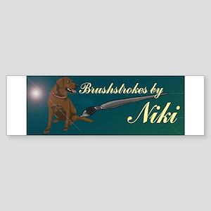 Brushstrokes by Niki Merch Sticker (Bumper)