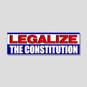 """Legalize The Constitution"" Car Magnet"