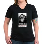 Mad Madame Lalaurie V-Neck Dark Tee