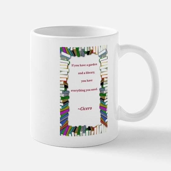 A Garden and A Library Mug