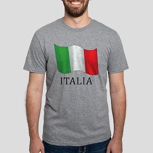 Italia Flag Mens Tri-blend T-Shirt